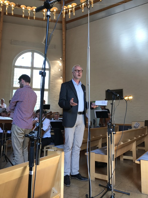 Fredrik Ewaldsson and Lars Arvidson during dress rehearsal at Rissnekyrkan.