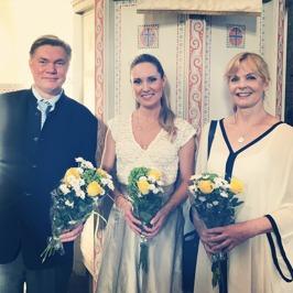 Gunnar Birgersson, Hannah Holgersson and Gunnel Fred at Sundbybergs kyrka