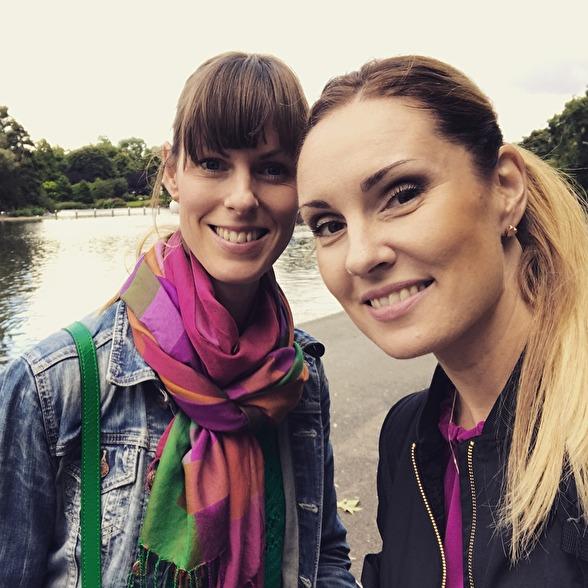 Ida Falk Winland and Hannah Holgersson in London