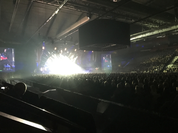 Full seated Kraft Arena Skellefteå Champions of Rock 2017