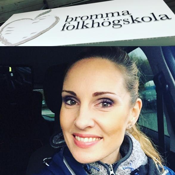 Hannah Holgersson at Bromma Folkhögskola.