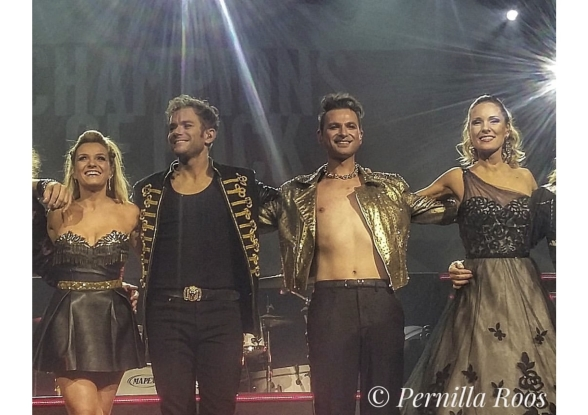 Jenna Lee-James, Peter Johansson, Ola Salo and Hannah Holgersson after a wonderful show at NKT Arena Karlskrona. Photo: Pernilla Roos