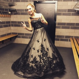 Hannah Holgersson after a successful show in Linköping, Saab Arena