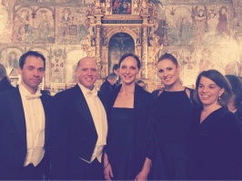 After Requiem by Mozart at Rimbo kyrka. From the left: Henrik Hugo, Mikael Stenbaek, Christina Östman, Hannah Holgersson and Helene Cocozza