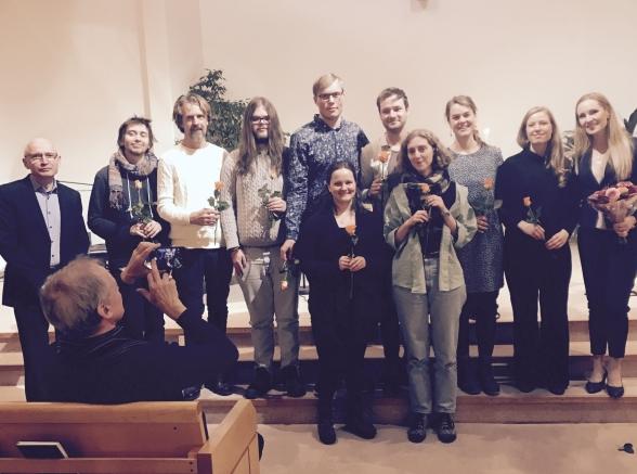 From the left: Göran Nygren (teacher), Serny Lilja, Niklas Aronsson, Elias Lang, Ivan Kinell, Isabella Amundsen, Daniel Axelsson, Lovisa Wahlström, Lisa Gotting, Katarina Näslund and Hannah Holgersson.