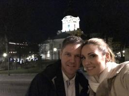 Christoffer Holgersson and Hannah Holgersson at Adolf Fredriks kyrka, Christmas Eve.
