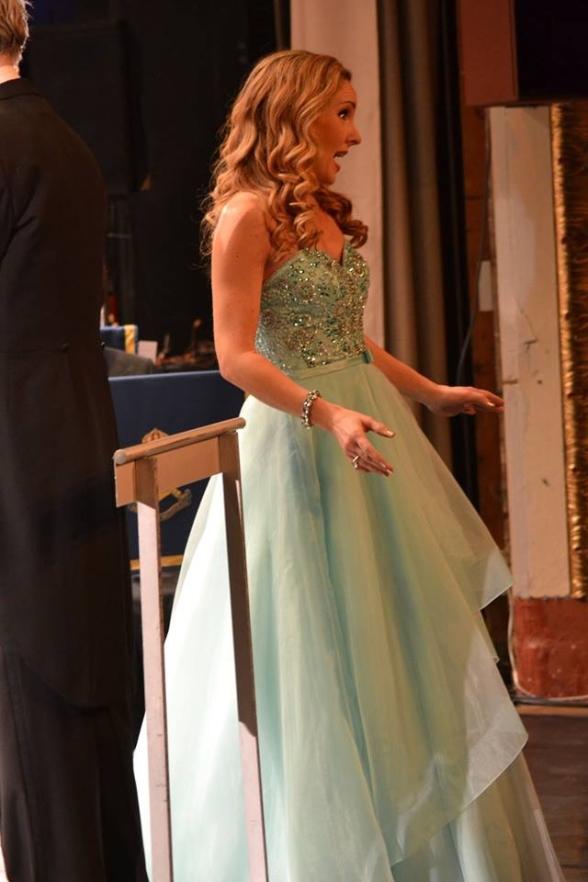 Hannah Holgersson singing yesterday at Ystad Teater. Photo: Ystad Teater