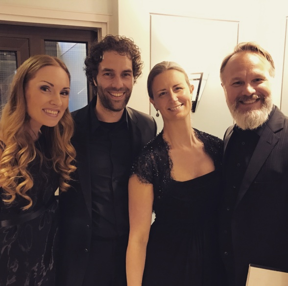 The soloist quartet; (from the left) Hannah Holgersson, Thomas Volle, Maria Sanner and Staffan Liljas