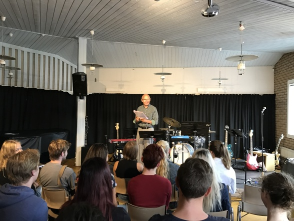 Göran Nygren, principal of the music students at Bromma Folkhögskola