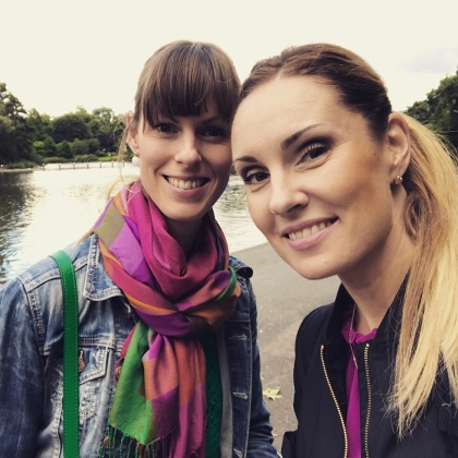 Ida Falk Winland and Hannah Holgersson in London
