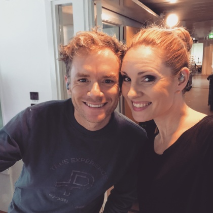 Peter Johansson and Hannah Holgersson rehearsing Barcelona