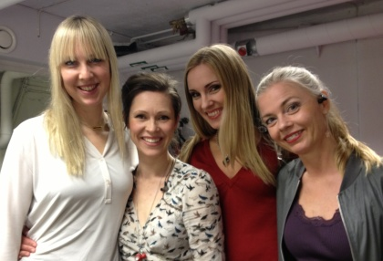 Me and my fantastic room mates at Folkoperan; (from the left) Janna Vettergren, Emma Nilsdotter and Katarina Henryson!