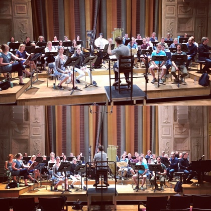 Rehearsal at the Stockholm Concert Hall, Grünewaldsalen.