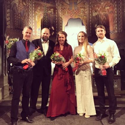 Johan Christensson, Jakob Högström, Ivonne Fuchs, Hannah Holgersson and Erik Arnelöf