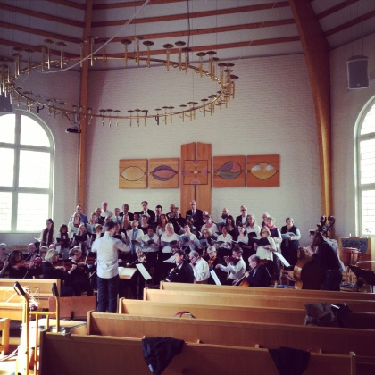 During dress rehearsal at Rissnekyrkan