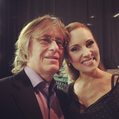 Anders Hillborg and Hannah Holgersson after a successful concert at Kampnagel, Hamburg