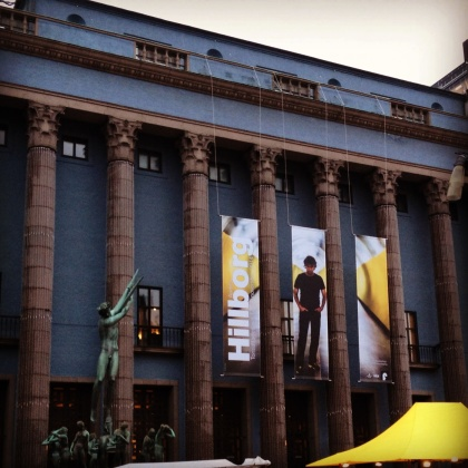 Hillborg banners at the Stockholm Concert Hall!