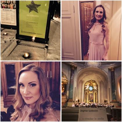 Hannah Holgersson in Hedvig Eleonora kyrka, Stockholm