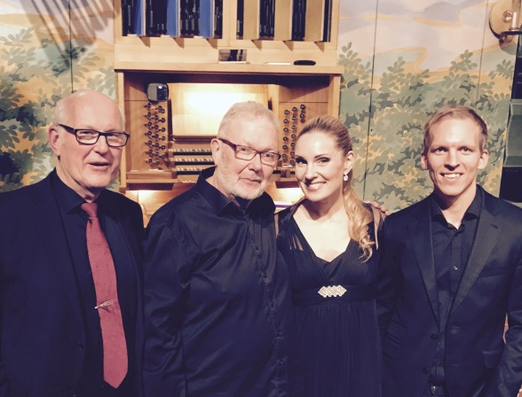 From the left: Anders Andersson, Björn Gäfvert, Hannah Holgersson and Martin Åsander
