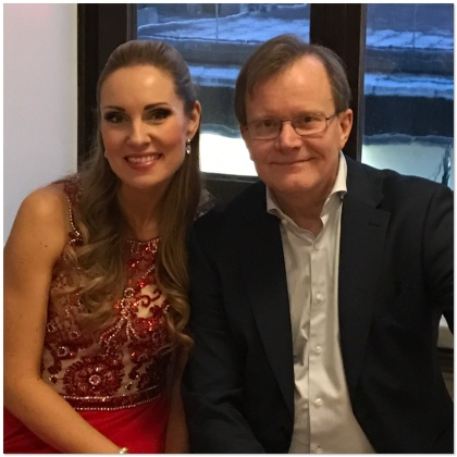 Hannah Holgersson and Stefan Lindgren backstage at Grünewaldsalen, Stockholms Konserthus.