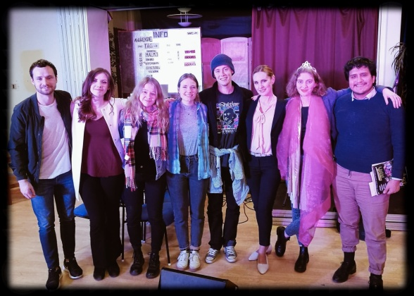 From the left: Daniel Axelsson, Alma Lundbäck, Cajsa-Stina Ahlskog, Katarina Näslund, Viktor Persson, Hannah Holgersson, Lovisa Wahlström and Otto Huanuco.