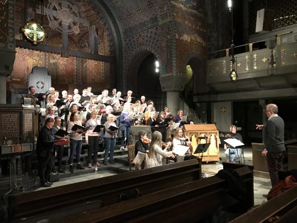 Rehearsal at Uppenbarelsekyrkan, Saltsjöbaden