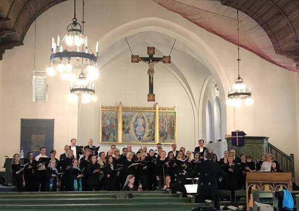 Rehearsal in Gustavsbergs kyrka
