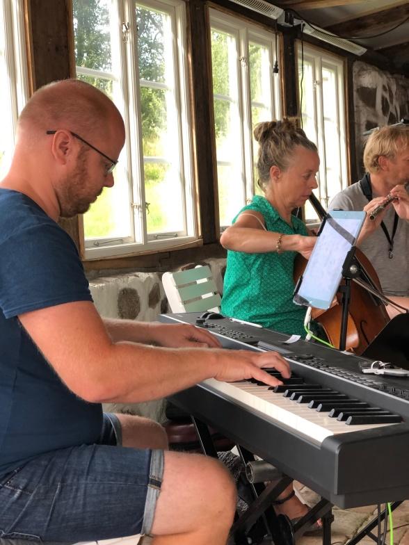Joakim Holgersson, Christina Wirdegren Ahlin and Pelle Grebacken.
