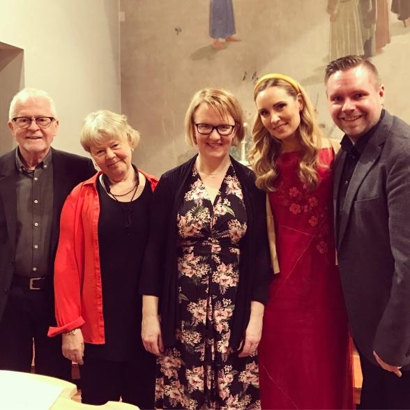 From the left: Paul Höglander, Cecilia Olsson, Karin Krigsman Järnskoog, Hannah Holgersson and Jörgen Lindström