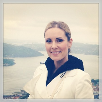 Hannah Holgersson with a great Bergen view!