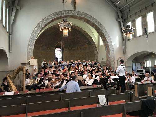 Dress rehearsal at Sundbybergs kyrka.