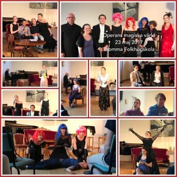 Singers: Erika Dahlberg, Isabella Amundsen, Emma Österberg, Frida Rålin and Sebastian Lundkvist. Actors: Dariel Riera and Emil Andersson. Piano: Göran Nygren. Host: Hannah Holgersson