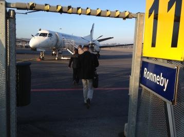 Sunny morning on my way to Karlskrona!