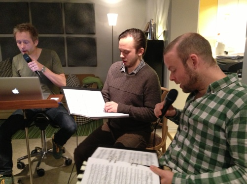 Anders Edenroth, Conny Thimander and Morten Vinther during rehearsal!