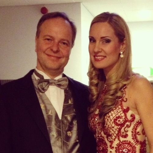 Sakari Oramo and Hannah Holgersson about to enter the stage!