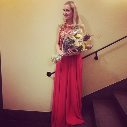 Hannah Holgersson with flowers!
