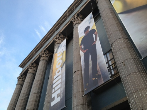 Hillborg festival. Beautiful ending! Banners at the Stockholm Concert Hall!