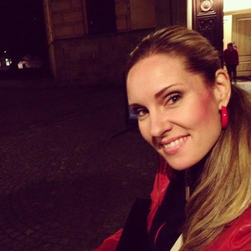 Hannah Holgersson outside Hedvig Eleonora kyrka.
