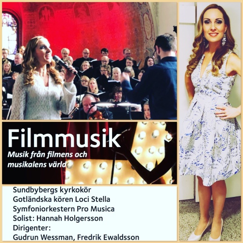Hannah Holgersson singing film music and songs from the musical theatre at Sundbybergs kyrka.
