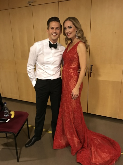 David Lindgren and Hannah Holgersson during the gala night!