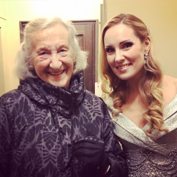 Thea Musgrave and Hannah Holgersson at the Stockholm Concert Hall