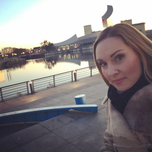 Hannah Holgersson at the MediaCity Manchester
