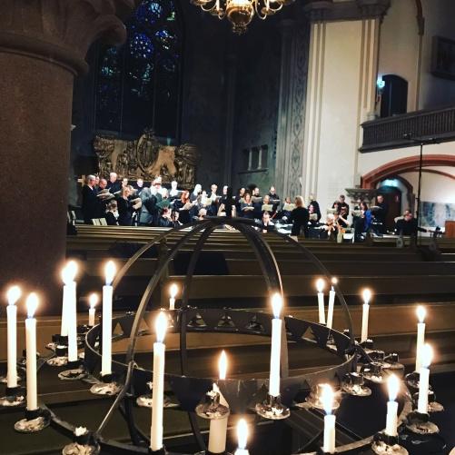 Dress rehearsal of A German Requiem by Brahms at Oscarskyrkan, Stockholm