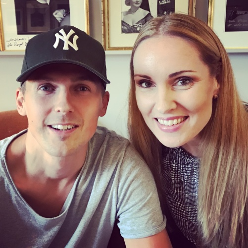 David Lindgren and Hannah Holgersson preparing for La Dolce Vita
