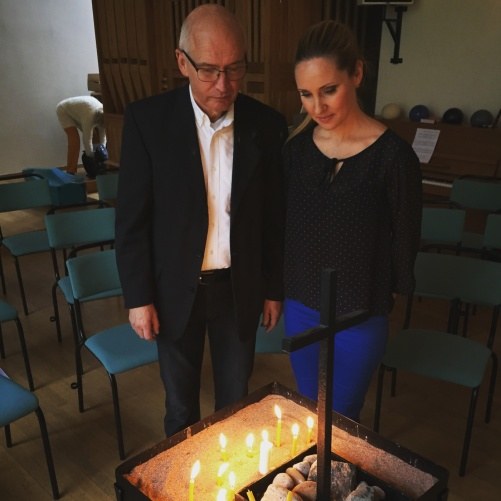Dear colleague Göran Nygren and Hannah Holgersson at the candle lights