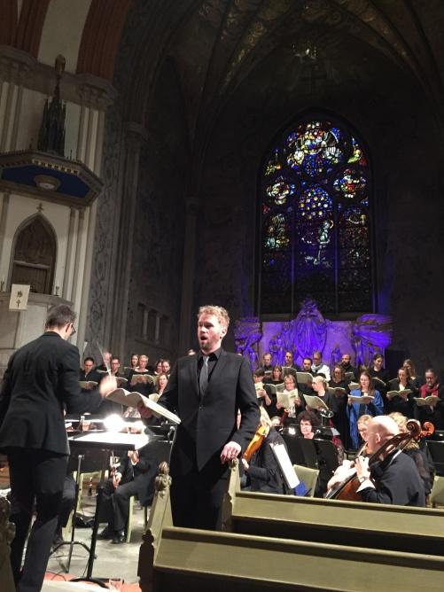 Pär Olofsson (conductor) and Carl Ackerfeldt (baritone)  during dress rehearsal
