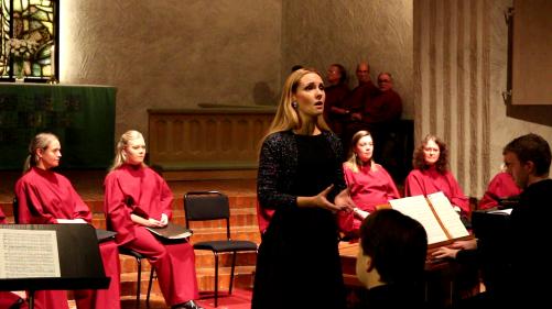 Hannah Holgersson and Espen Myklebust Olsen in music by Gabriel Fauré. Photo: Björn Ehnberg