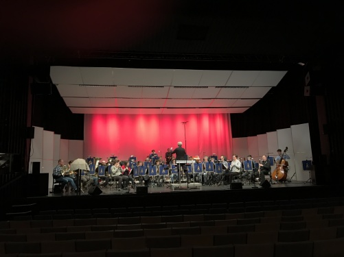 Soundcheck at Konserthusteatern, Karlskrona, with Marinens Musikkår and conductor Staffan Larson