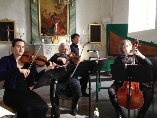Catalina Langborn, Sofia Wänström, Marcus Mohlin and Jenny Lierud during dress rehearsal.