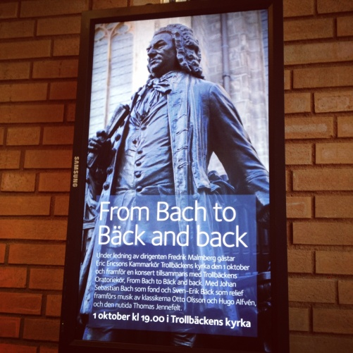 Poster of the concert Back to Bach!